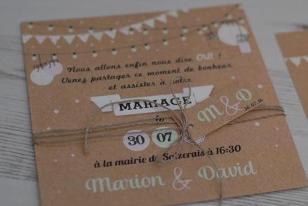 Fournitures faire part mariage sur A Little Mercerie