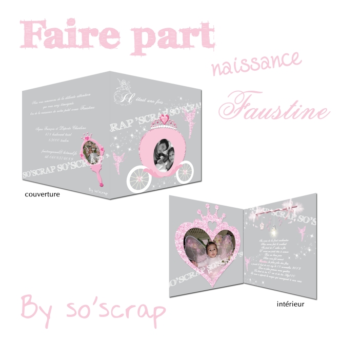 #fairepartcarrosse #fairepartnaissanceprincesse
