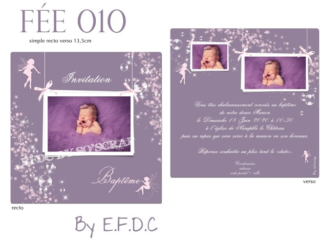 faire part naissance ou baptême thème fée, recto verso, #photo , #petitefee, #magie, #magique, étoiles scintillantes, poussière de fée, à personnaliser texte et photo, #fairepartfee #efdcbysoscrap #personnalisable #naissance #bapteme